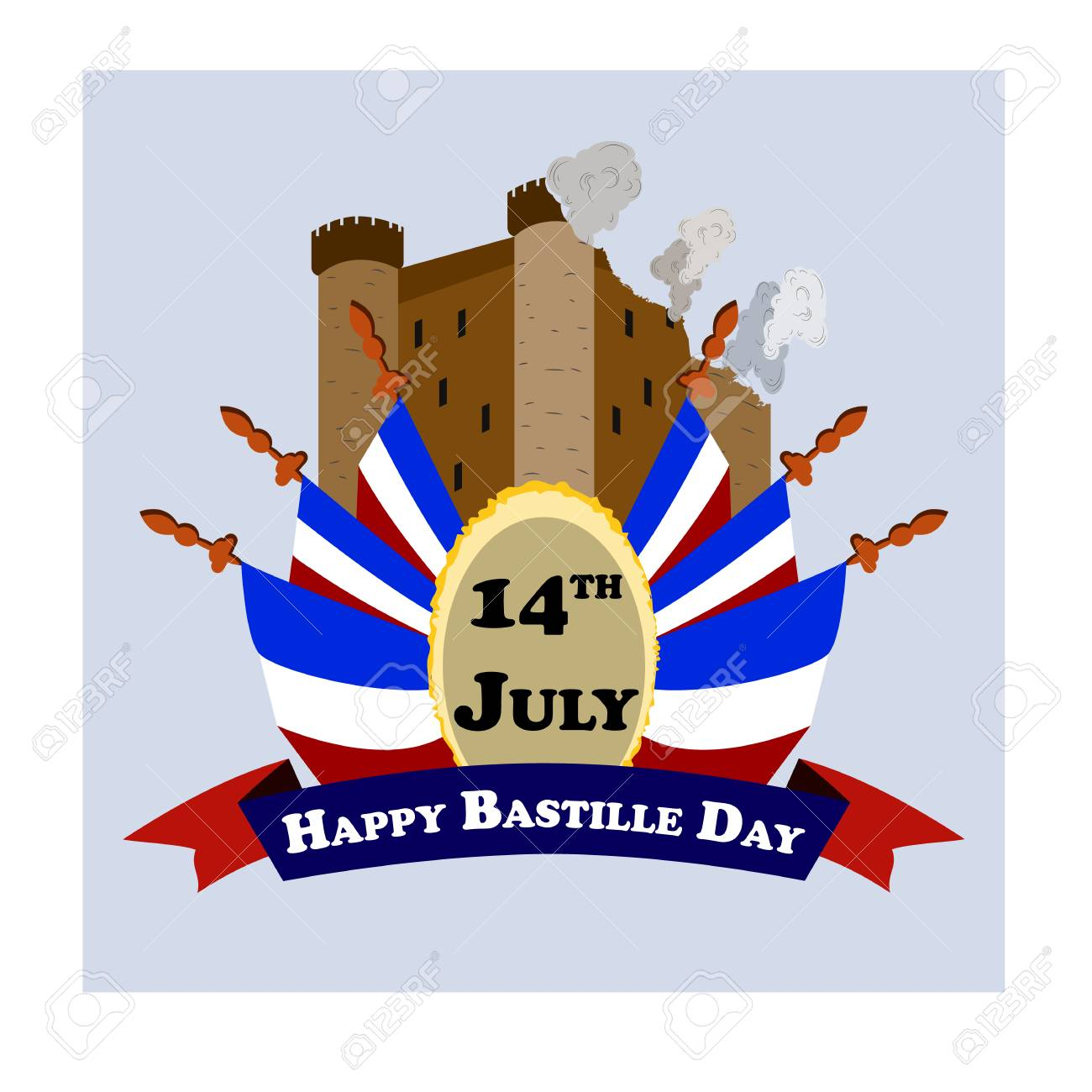 Concept for the French National Day Bastille Day, July 14, vector - 101037160