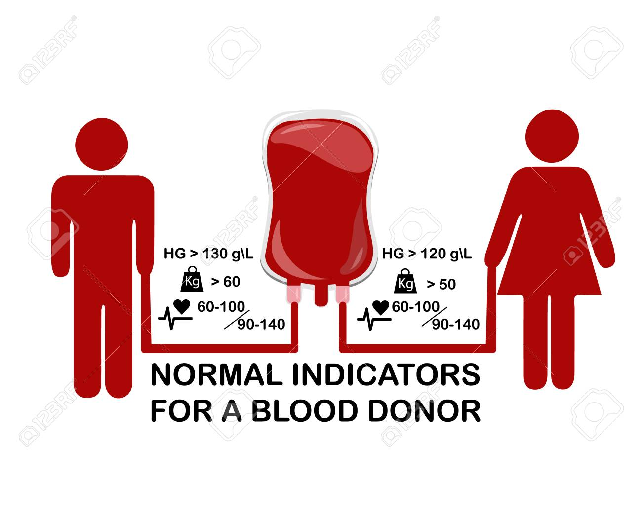 Infographics on the subject of blood donation, vector - 101628038