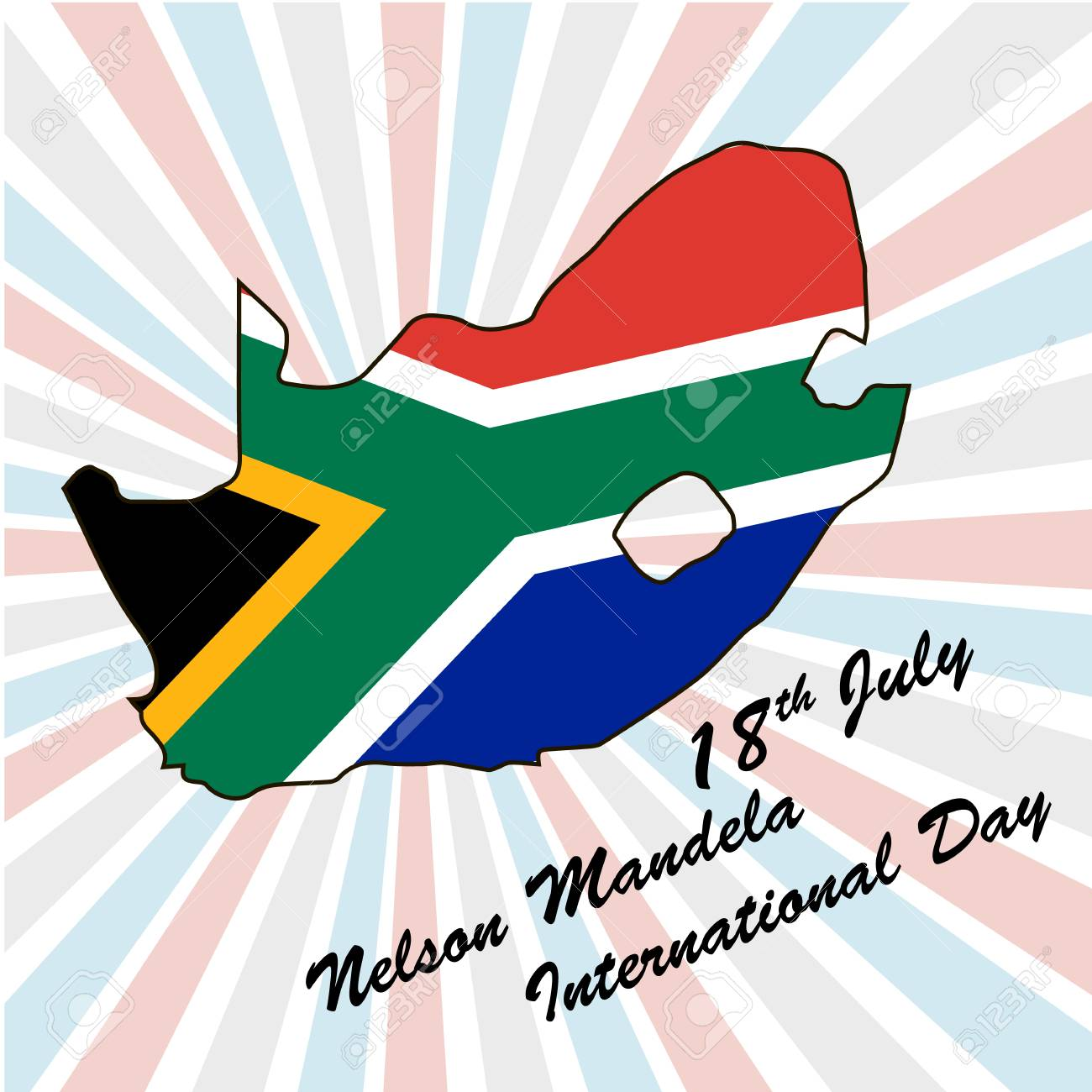 Nelson Mandela International Day 18th july, vector - 101896844