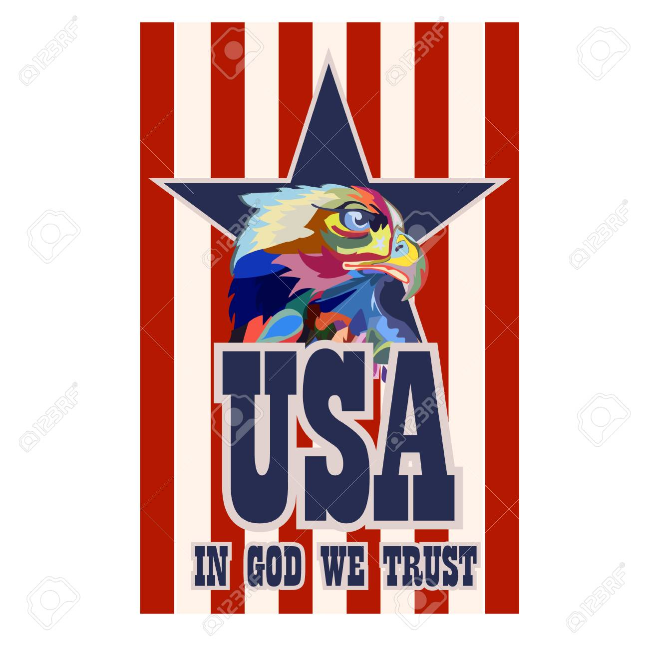 Abstract image of an eagle, a symbol of the United States, vector - 102011480