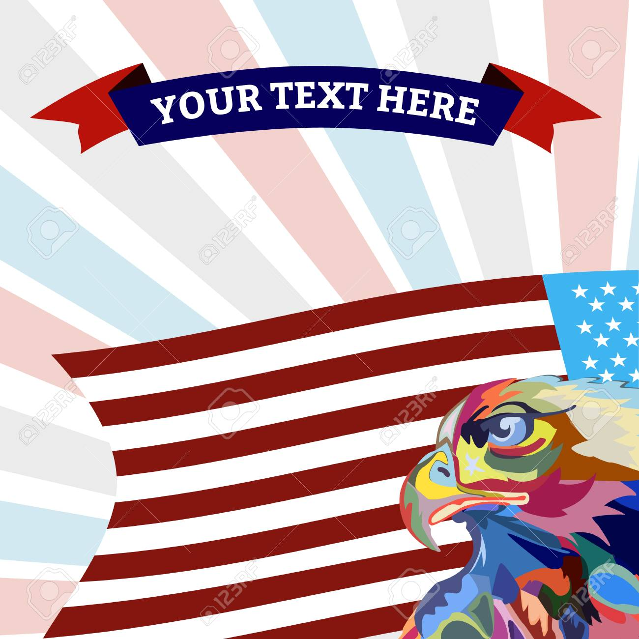 Abstract image of an eagle, a symbol of the United States, vector - 102010458