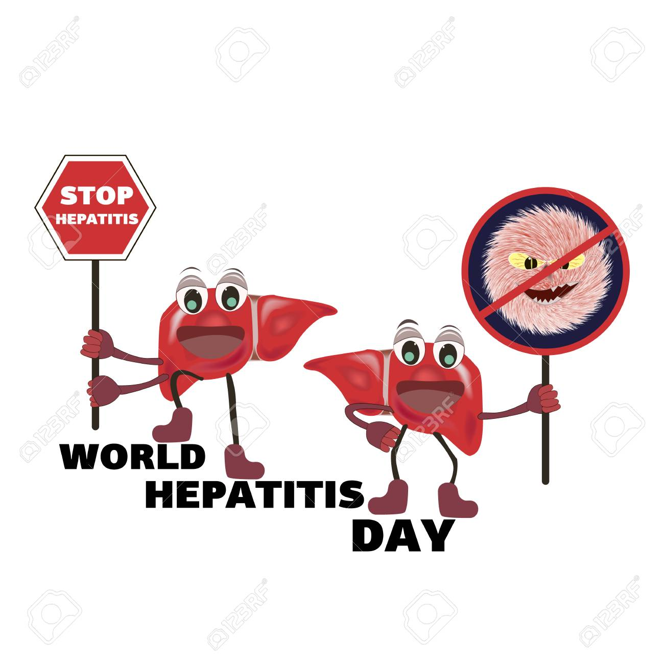 Concept for World Hepatitis Day on an isolated background , vector - 102369602