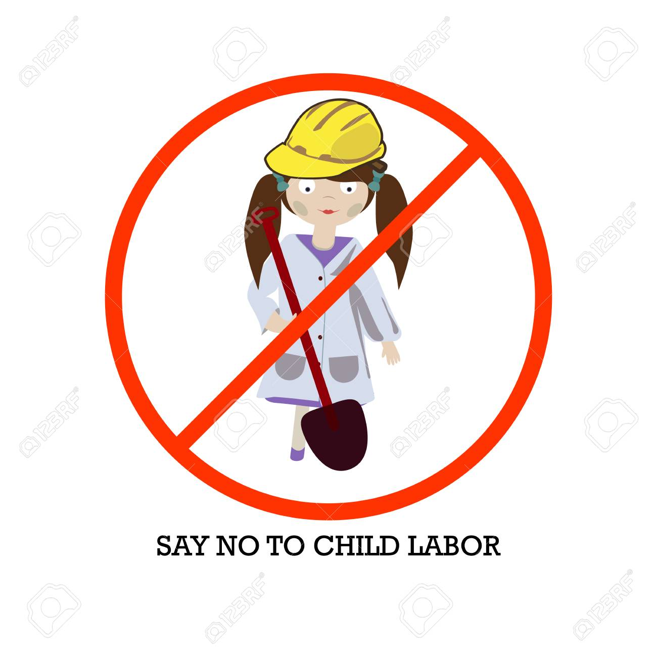 Image result for cartoon no child labour