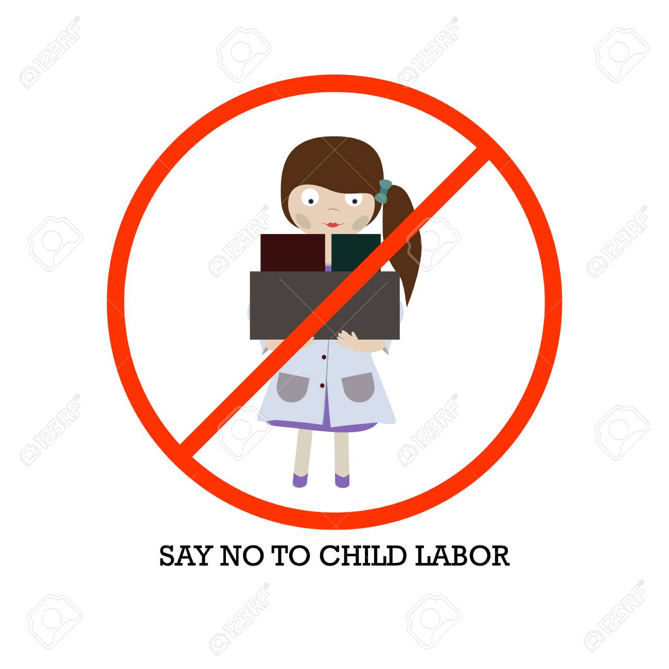 Concept for a World Day Against Child Labour, vector on isolated background - 102394930