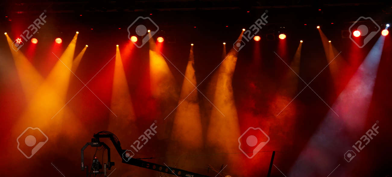 colorful lights in a concert stage Stock Photo - 10743190