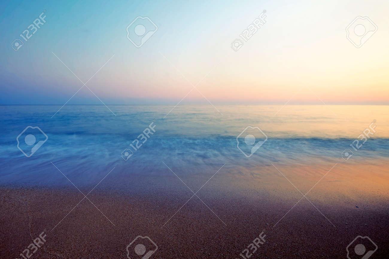 Vrachos. Greece. A beach in a hot summer night - 136887398