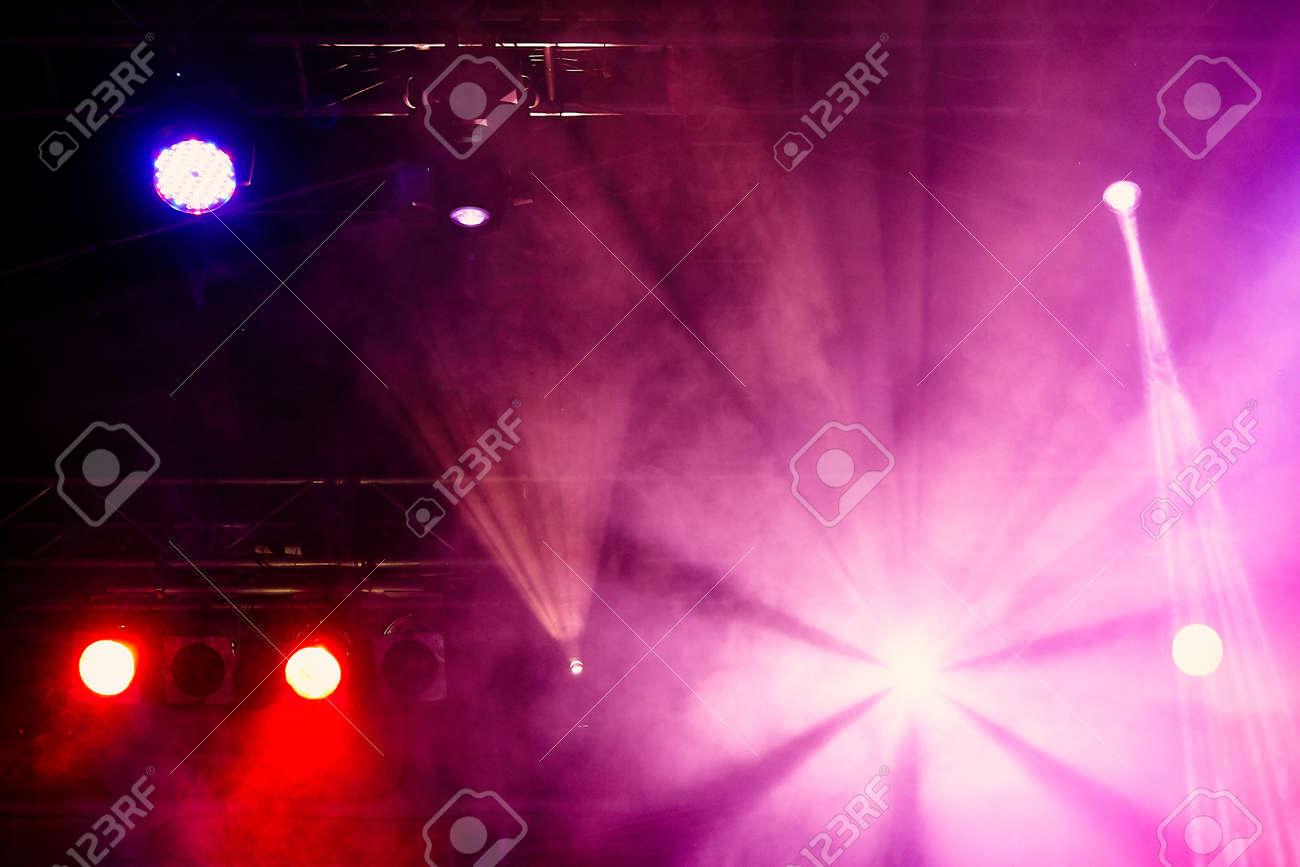 Stage lights on concert. Concert light show - 133133265