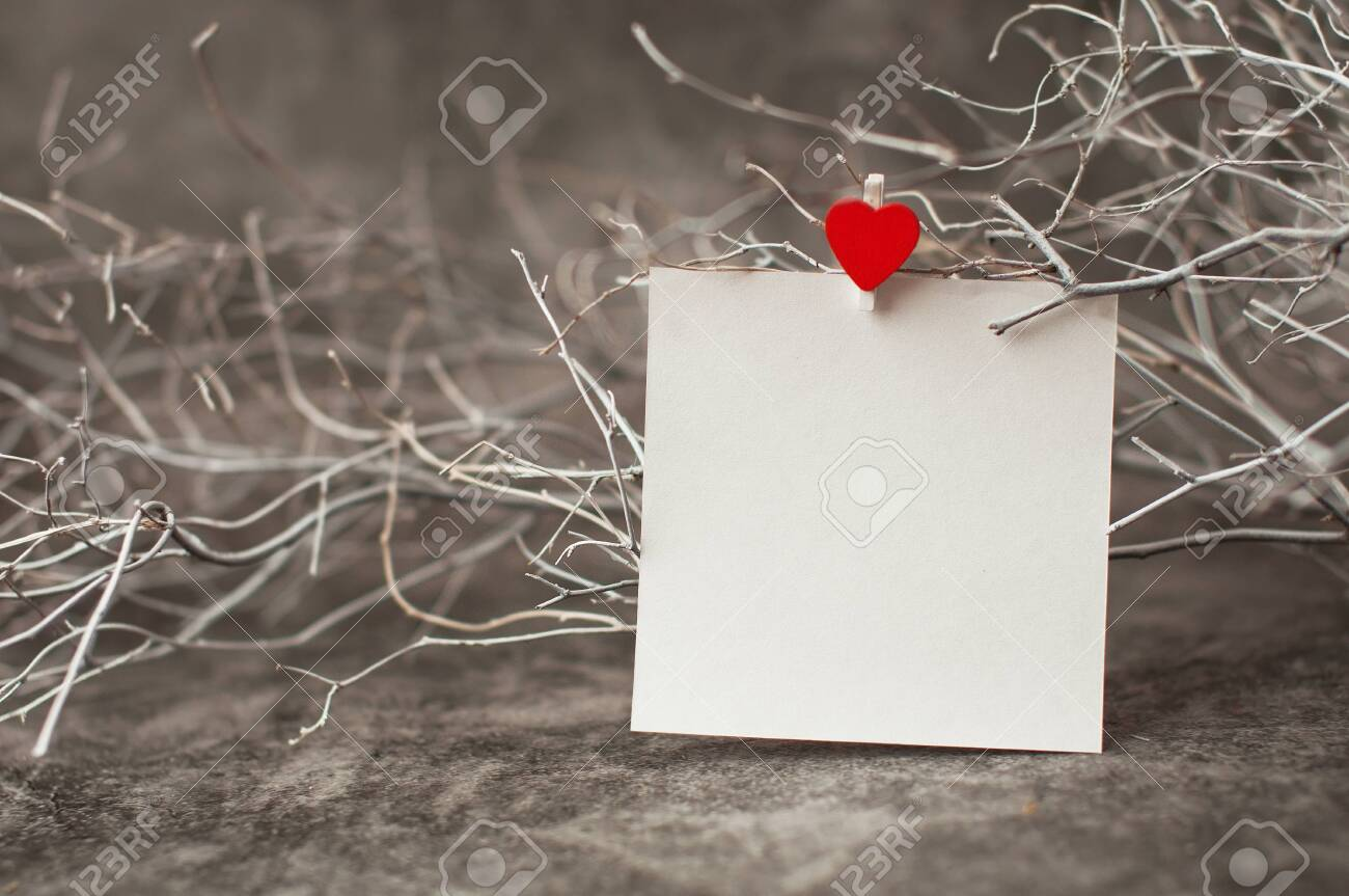 Holiday Background For Valentine S Day On A Gray Cement Background Stock Photo Picture And Royalty Free Image Image 138002838