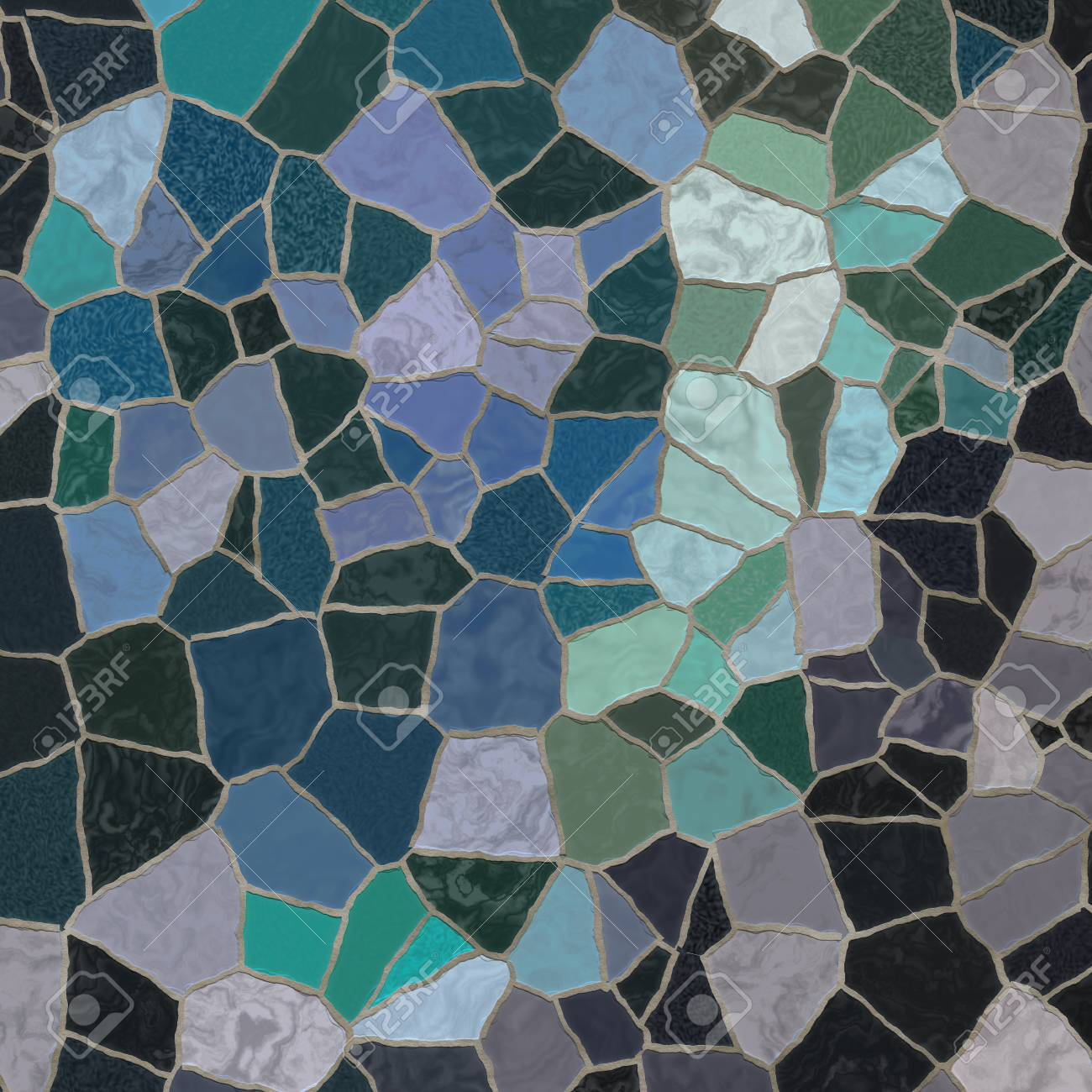 Broken Mosaic Tiles Stock Photo, Picture And Royalty Free Image ...