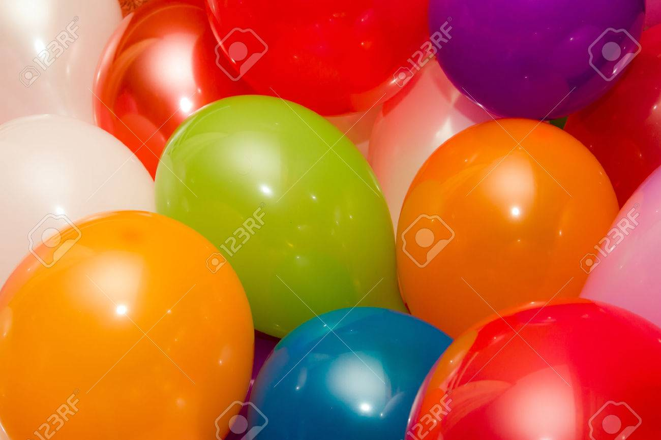 Background of colored baloons Standard-Bild - 23017058