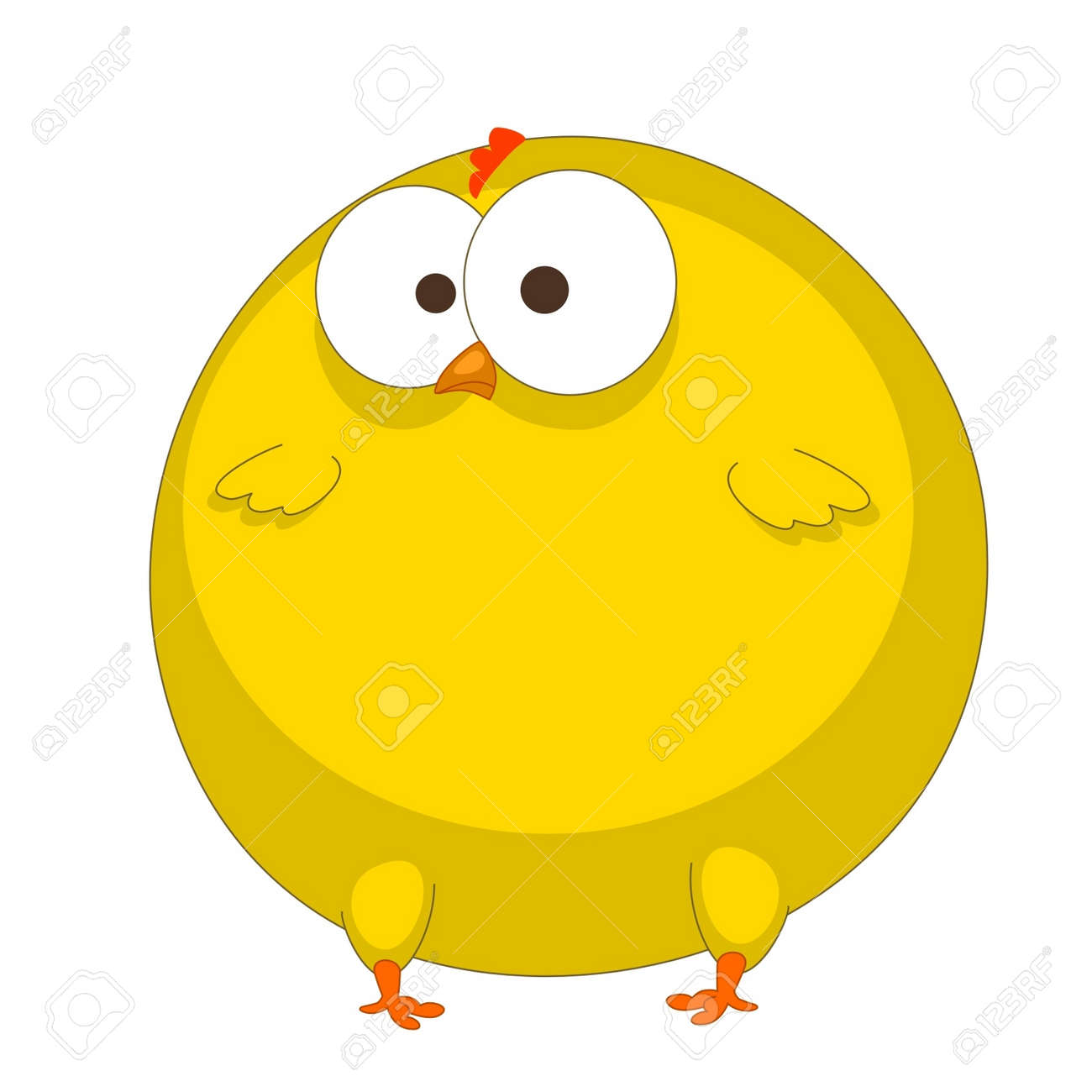 a funny chicken is isolated on a white background Stock Vector - 11092577