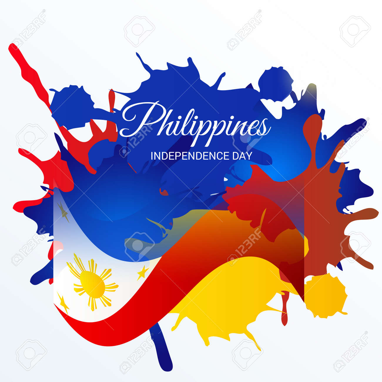 Independence Day.Philippines Independence Day Royalty Free Cliparts Vectors And