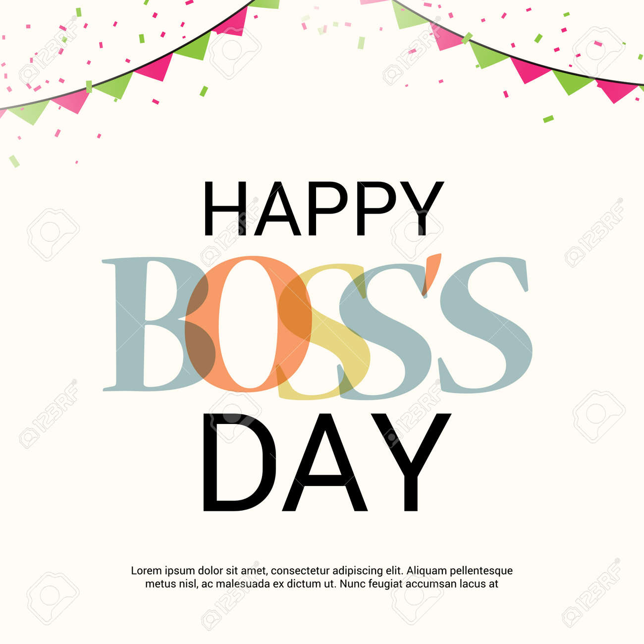 Happy Boss's Day. Royalty Free...