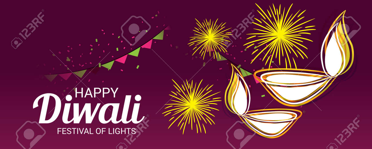 happy diwali banner template design illustration stock vector 88275786