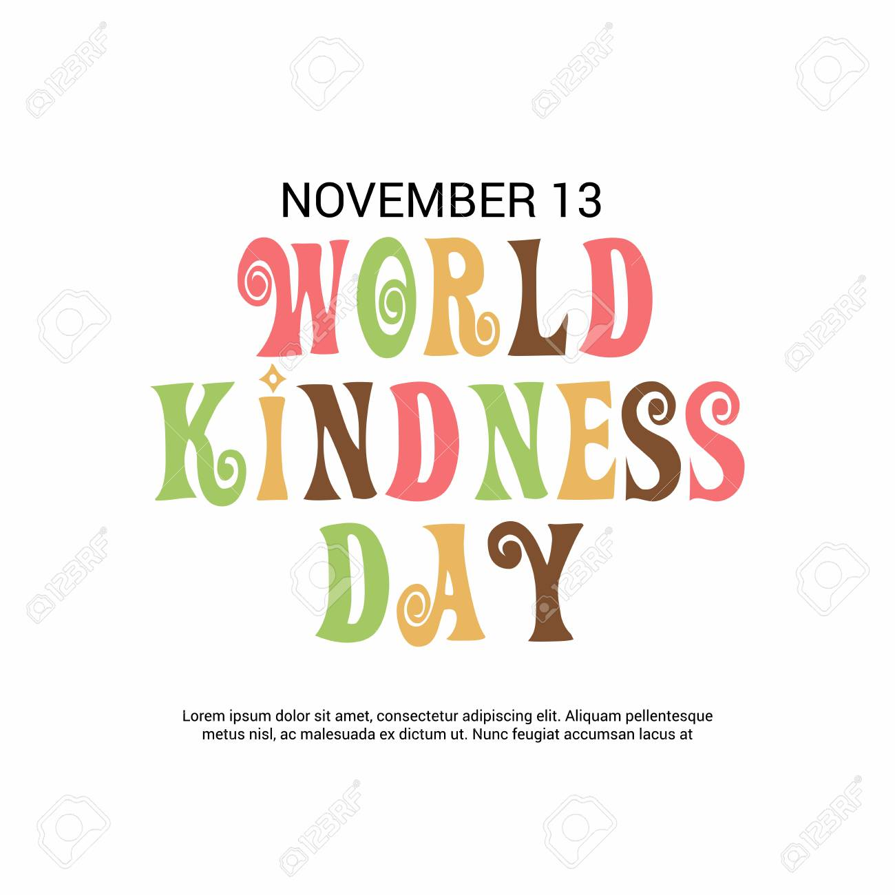 World Kindness Day Royalty Free Cliparts Vectors And Stock Illustration Image 89918913