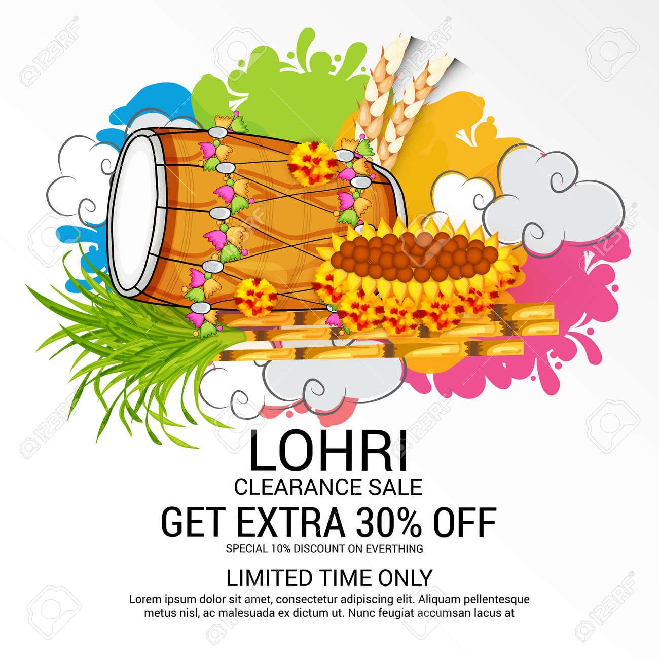 Happy Lohri Discount Banner Pattern ...