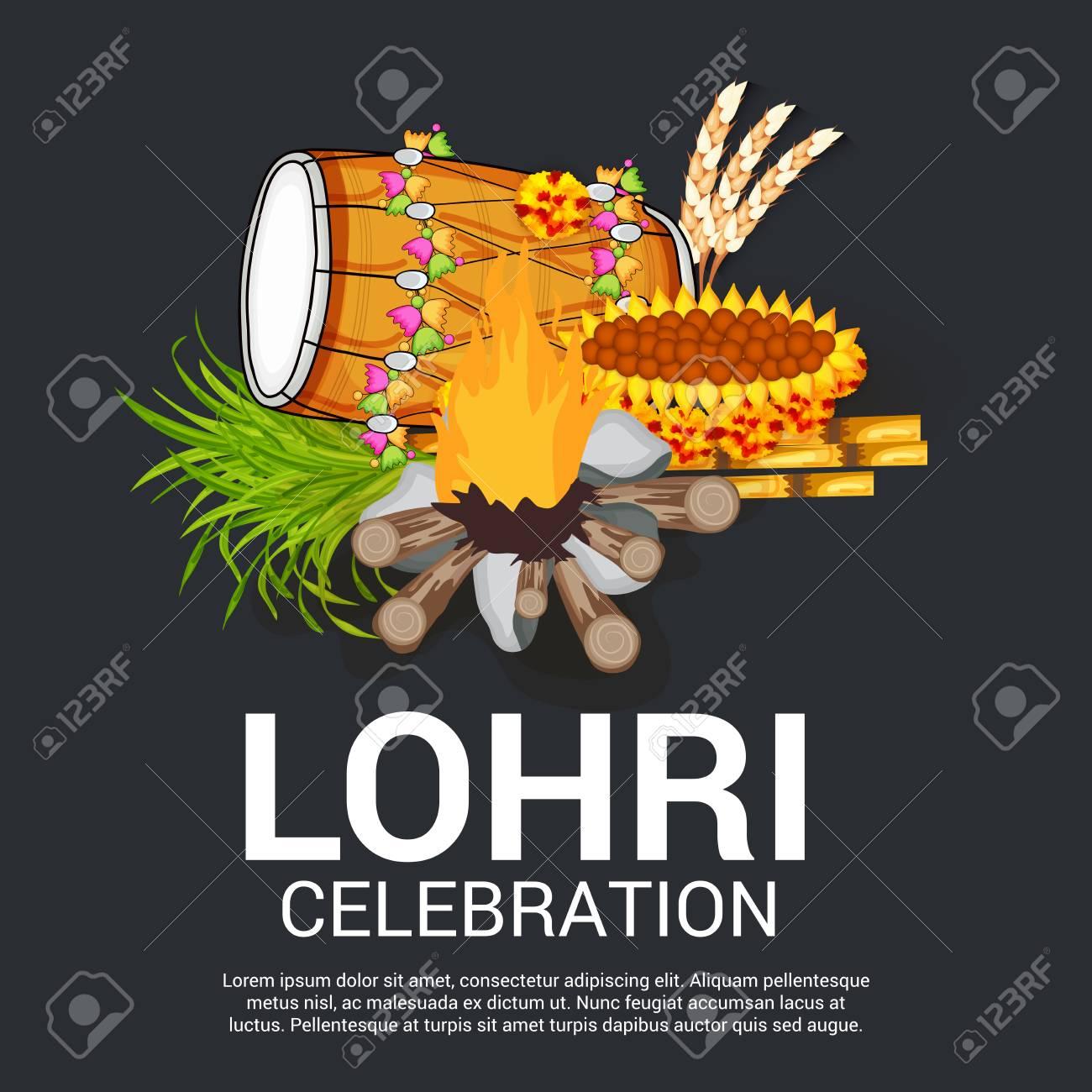 Happy lohri greeting card design royalty free cliparts vectors happy lohri greeting card design stock vector 92525512 m4hsunfo