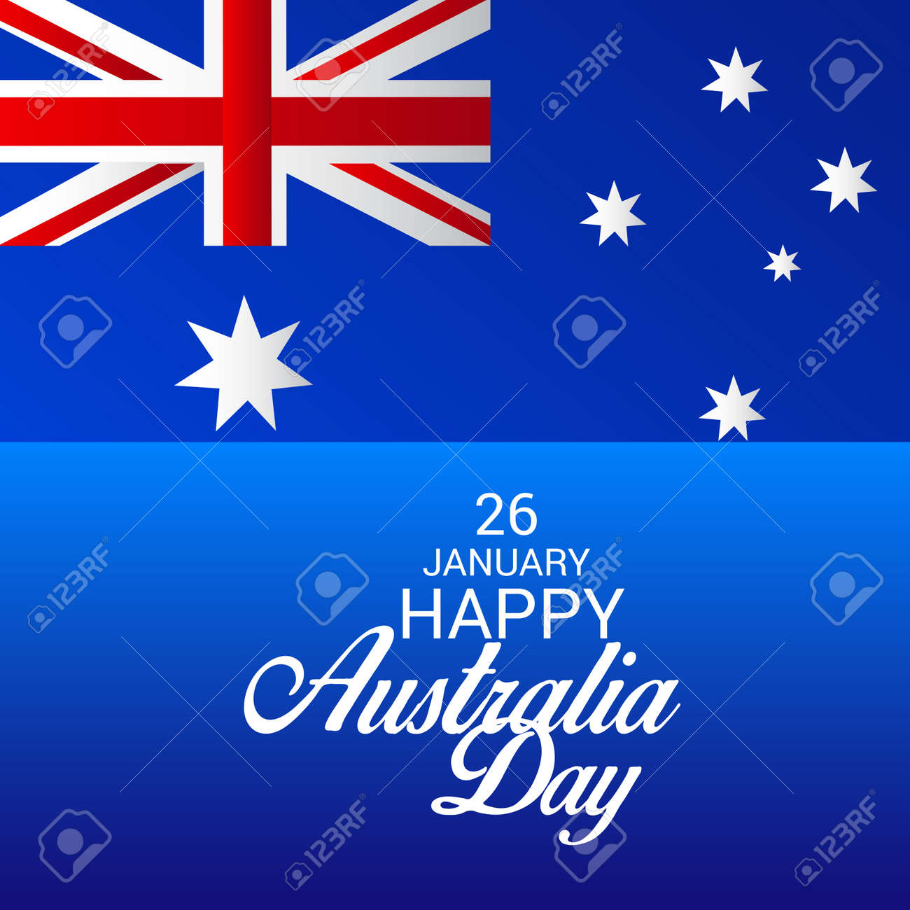 Happy Australia Day Greeting Card Design Royalty Free Cliparts