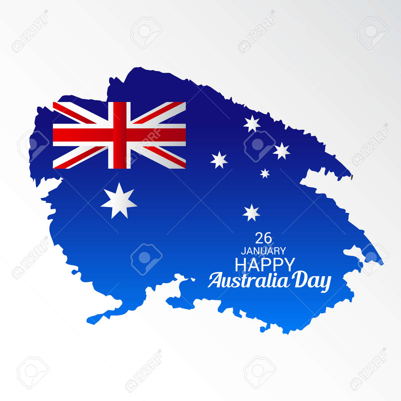 Happy australia day greeting card with australian flag design happy australia day greeting card with australian flag design stock vector 94132451 m4hsunfo