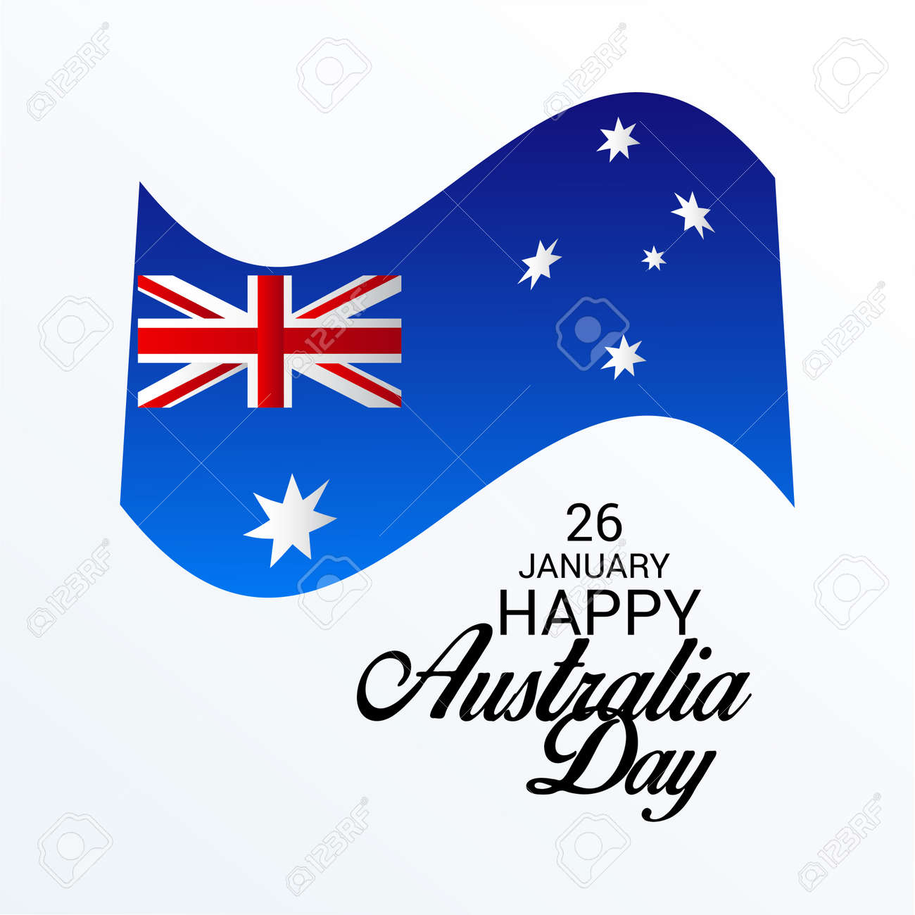 Happy australia day greeting card with australian flag design happy australia day greeting card with australian flag design stock vector 94132458 m4hsunfo