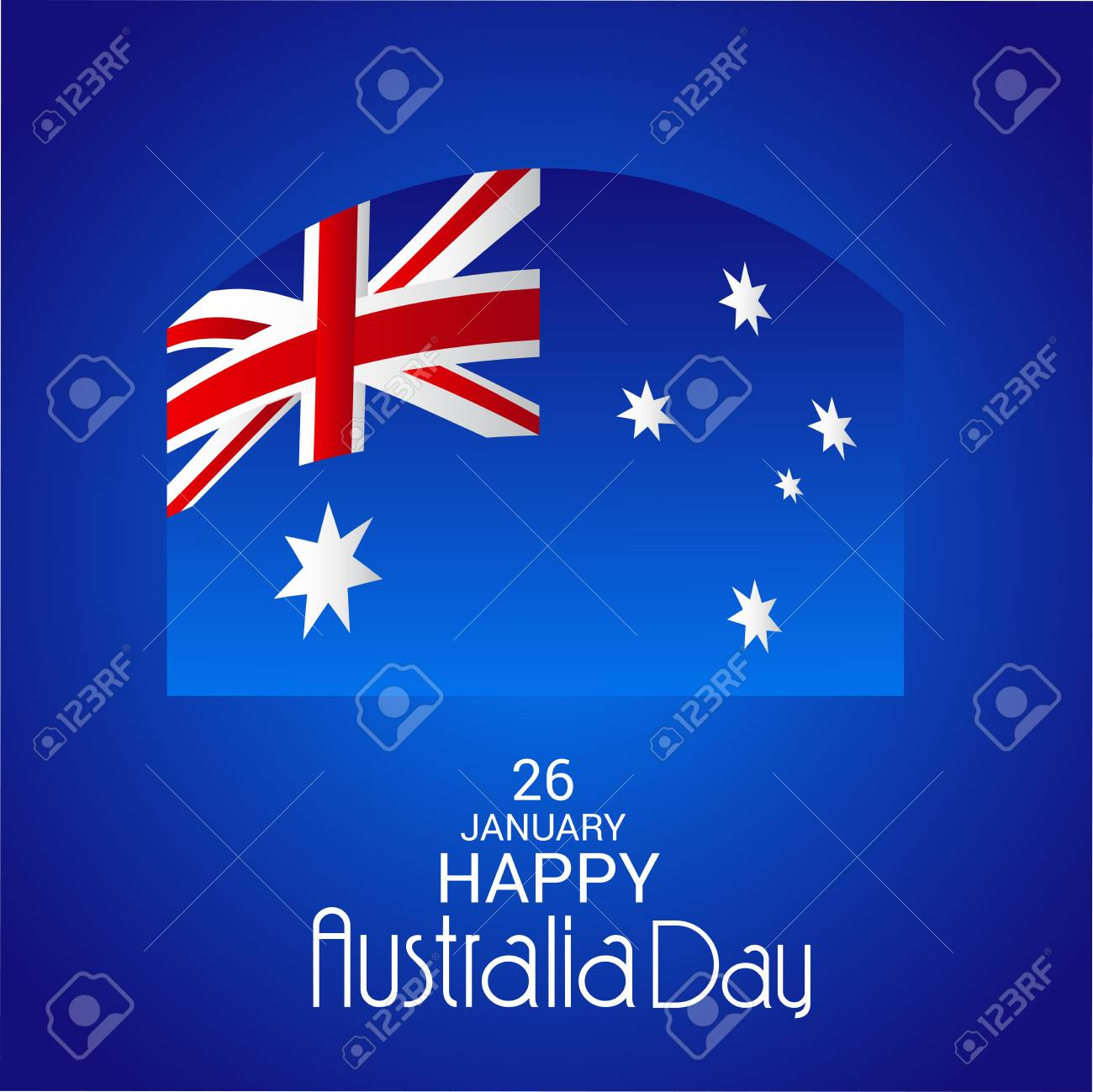 Happy australia day greeting card with australian flag design happy australia day greeting card with australian flag design stock vector 94132459 m4hsunfo