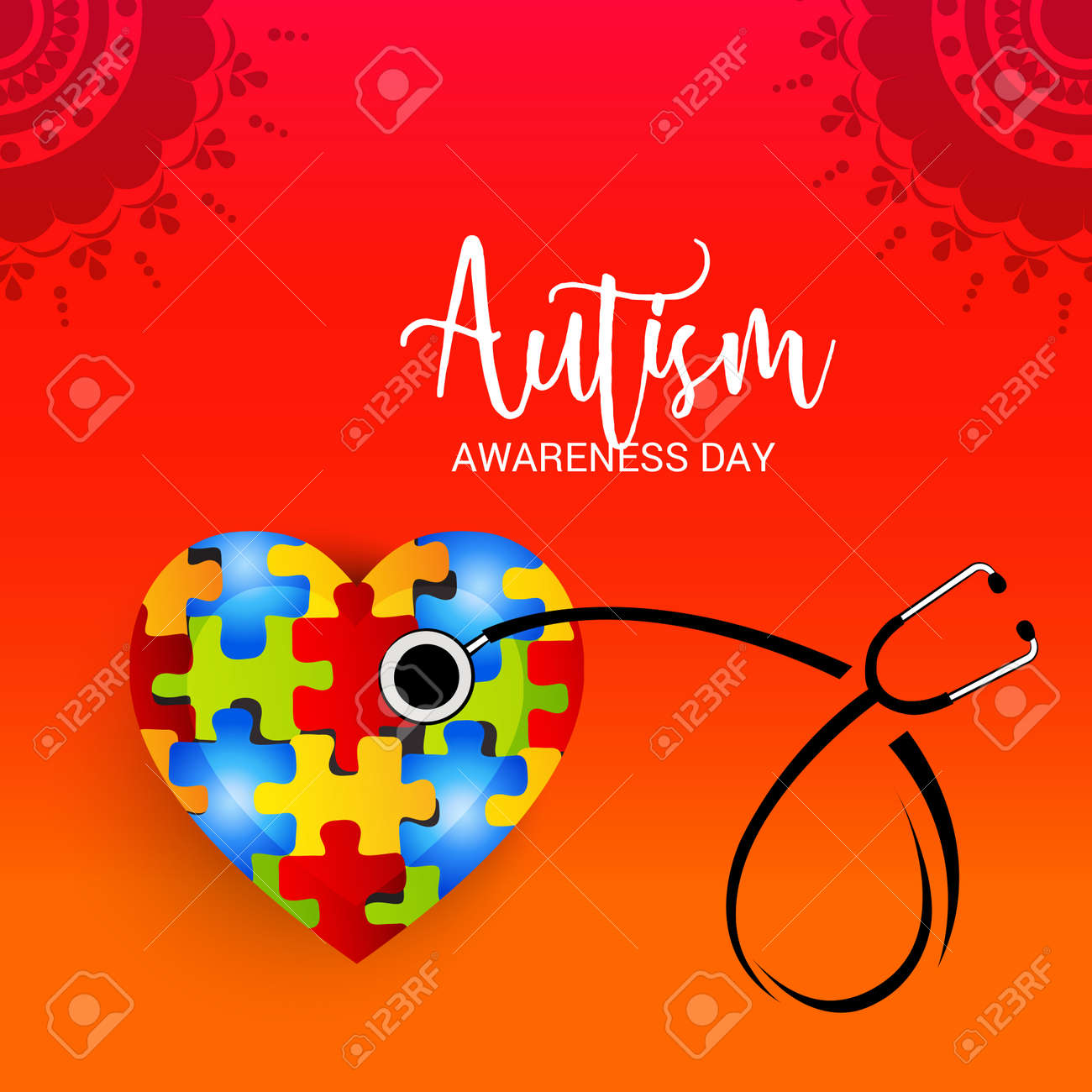world autism awareness day colorful banner royalty free cliparts