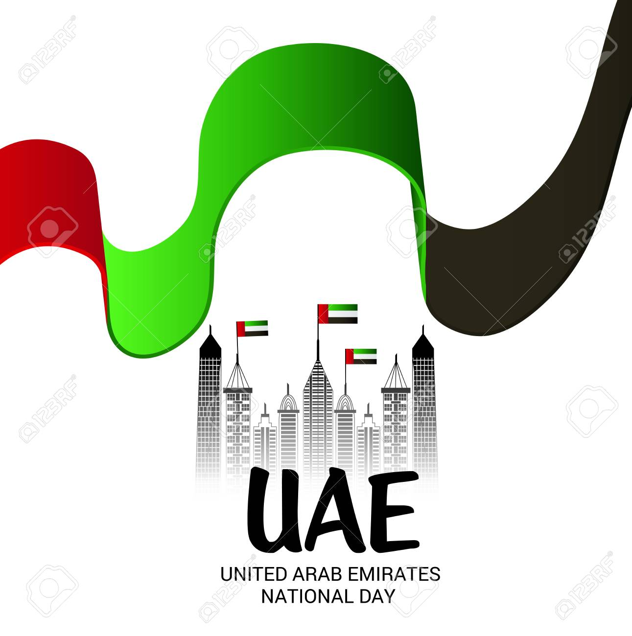 d45dcf6dc7c UAE National Day. Stock Vector - 112468105