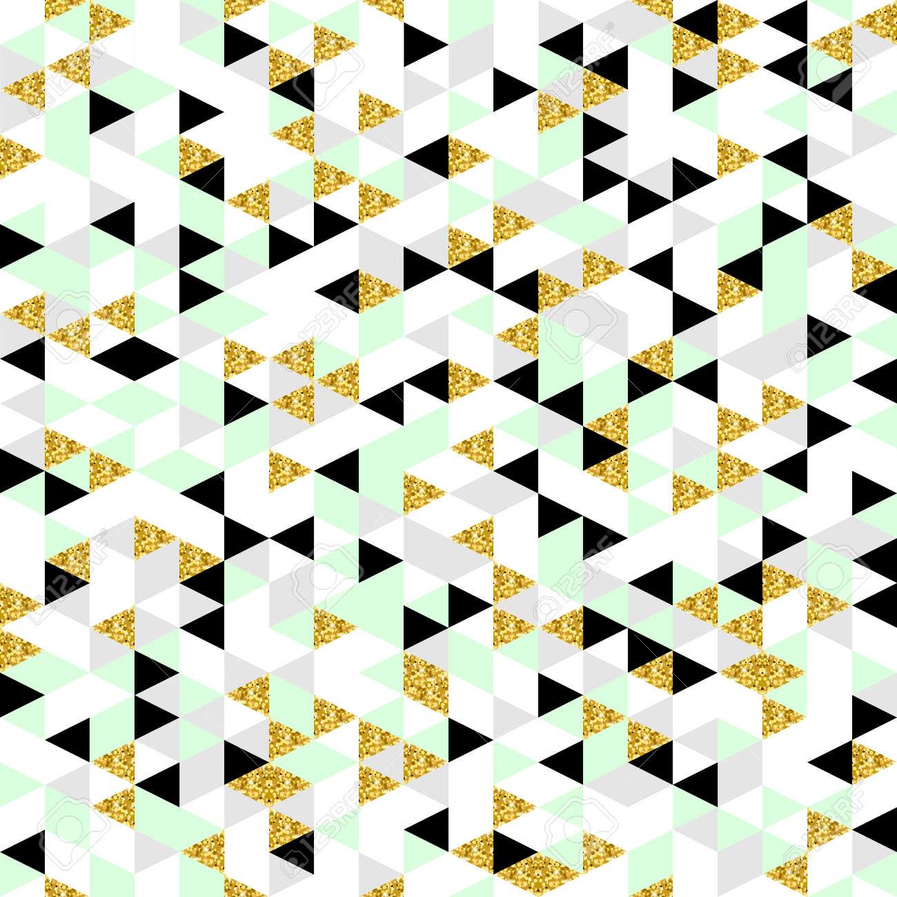 Banque Du0027images   Moderm Seamless Géométrique. Fond Trendy Triangulaire En  Or, Vert Pastel, Blanc, Gris Et Noir. Abstract Design Pour La Mode, La  Carte, ...