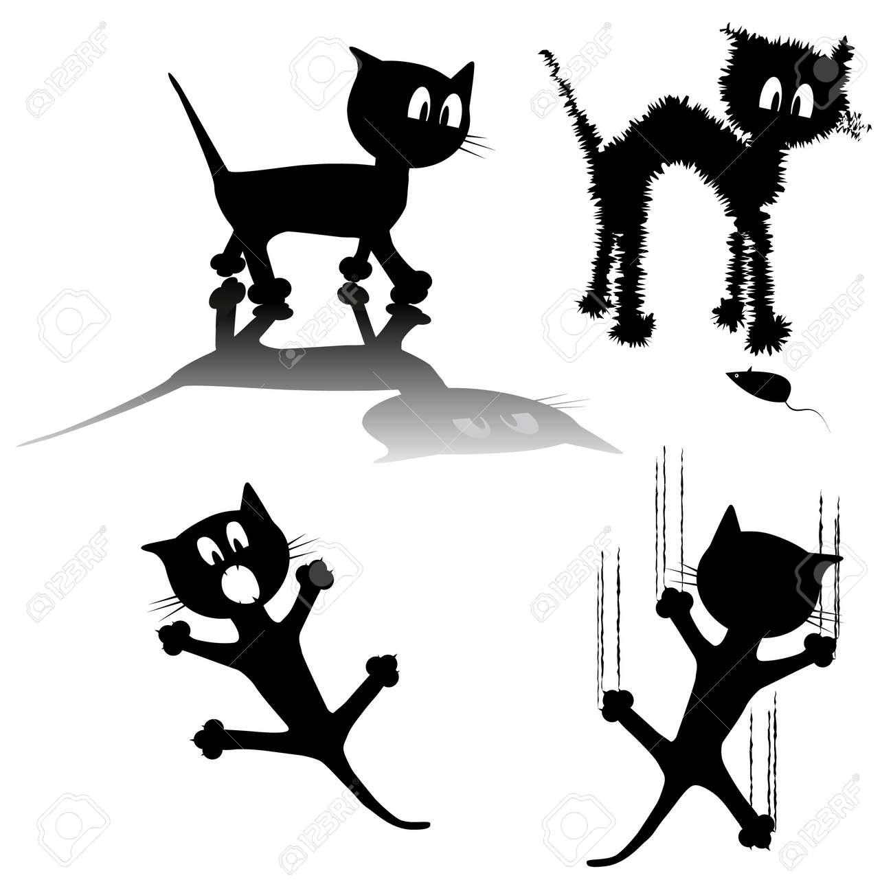 Black cat Stock Vector - 11961761