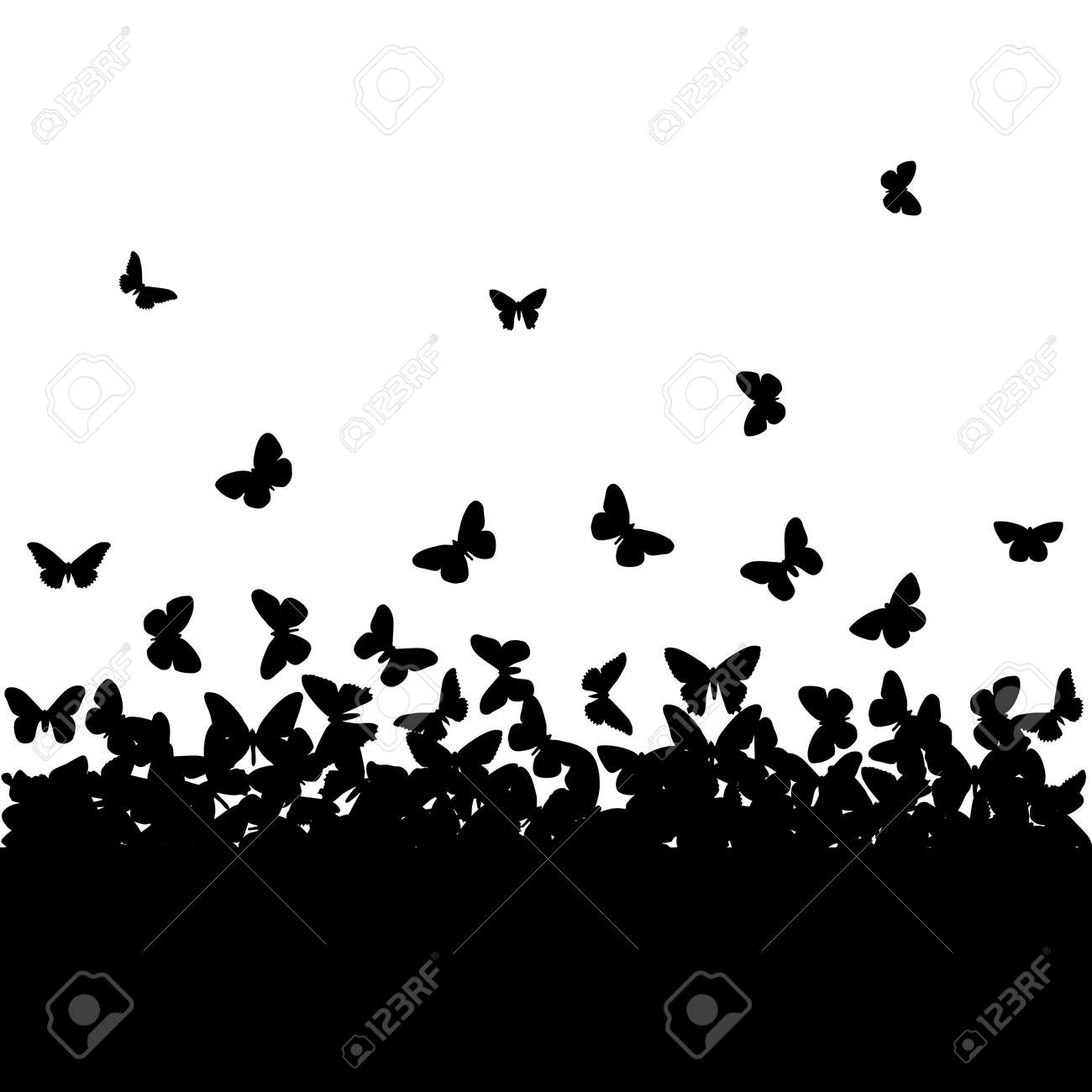 the silhouettes of butterflies royalty free cliparts vectors and