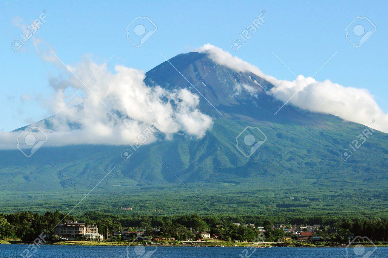 Mt Fuji in summer Stock Photo - 13829159