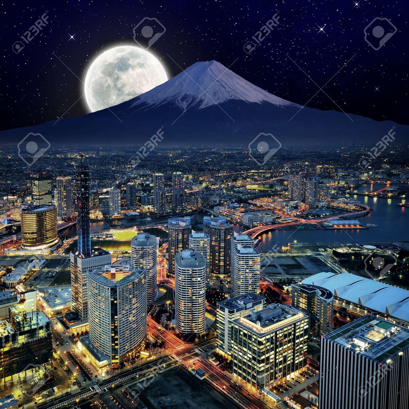 Surreal view of Yokohama city Stock Photo - 13829179