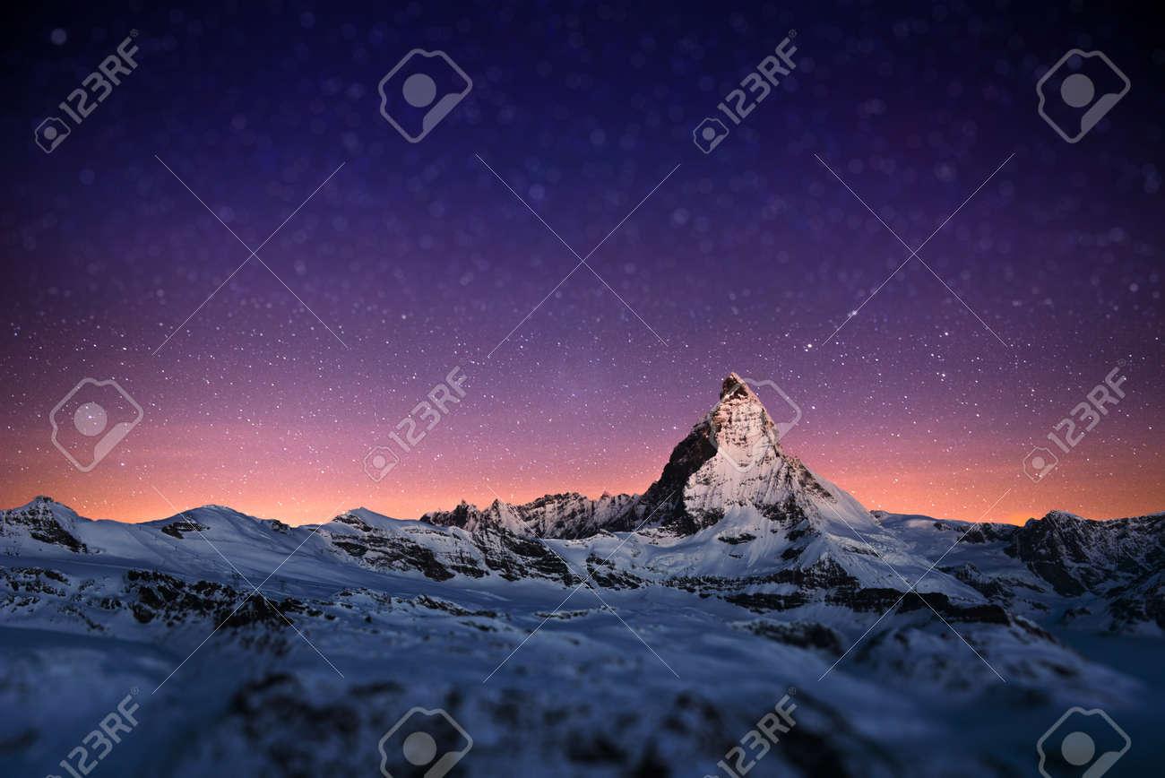 Matterhorn peak, Zermatt, Switzerland. - 61331347