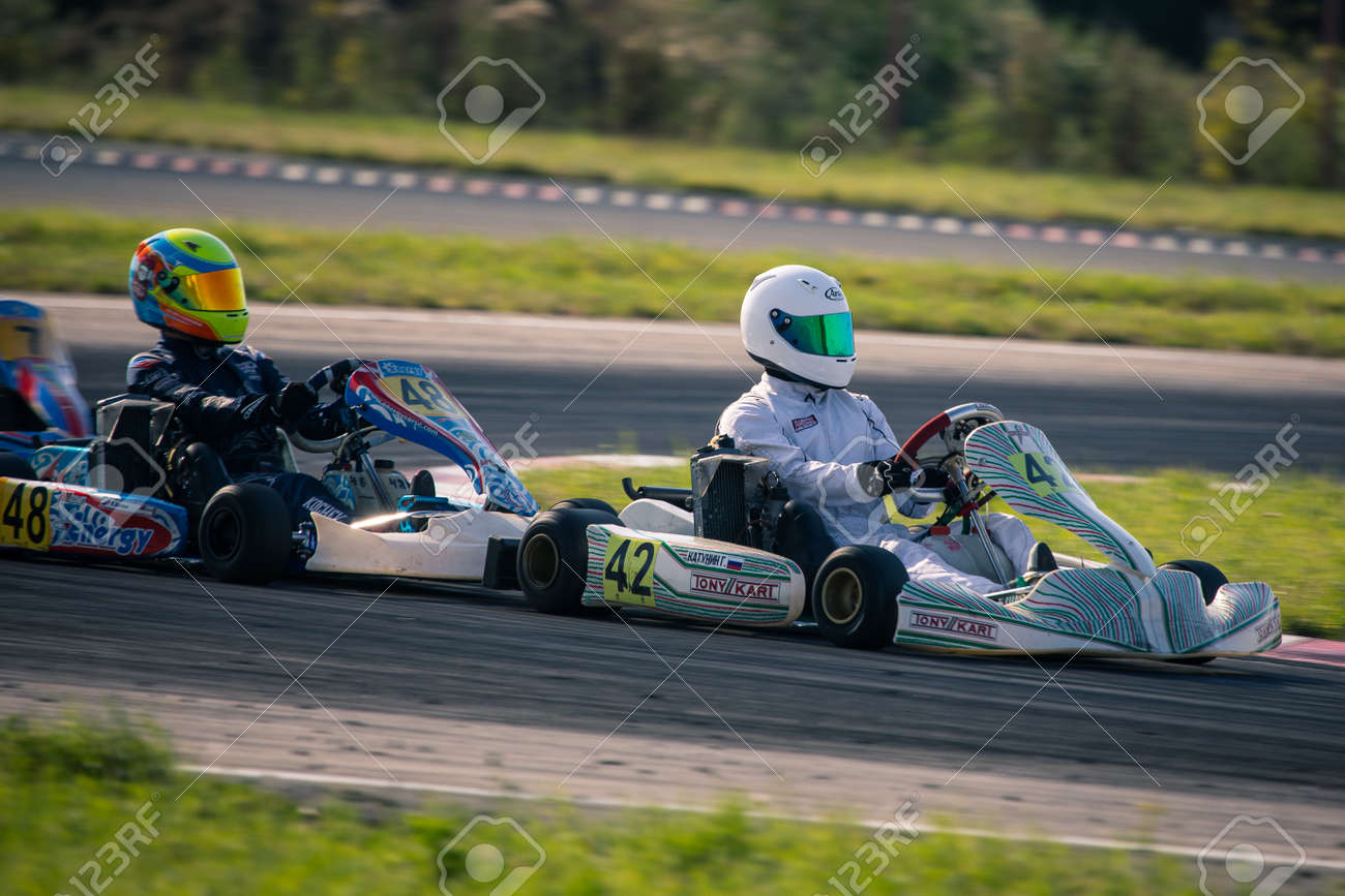 Belgorod, Russia - August 13: unidentified pilots compete on