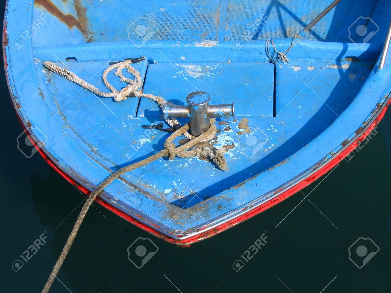 A Small Fishing Boat -- anchored in port Stock Photo - 402909