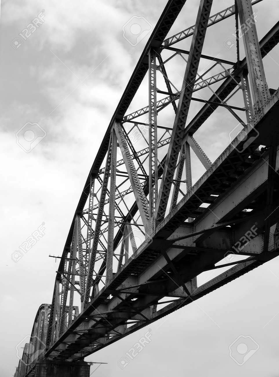 Old Railway Bridge -- as seen from below Stock Photo - 575404