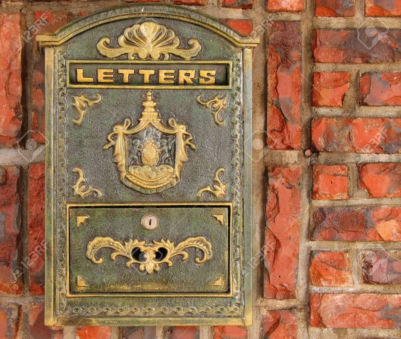 Wall Mailbox Slot Mail Slot Old Style Mailbox