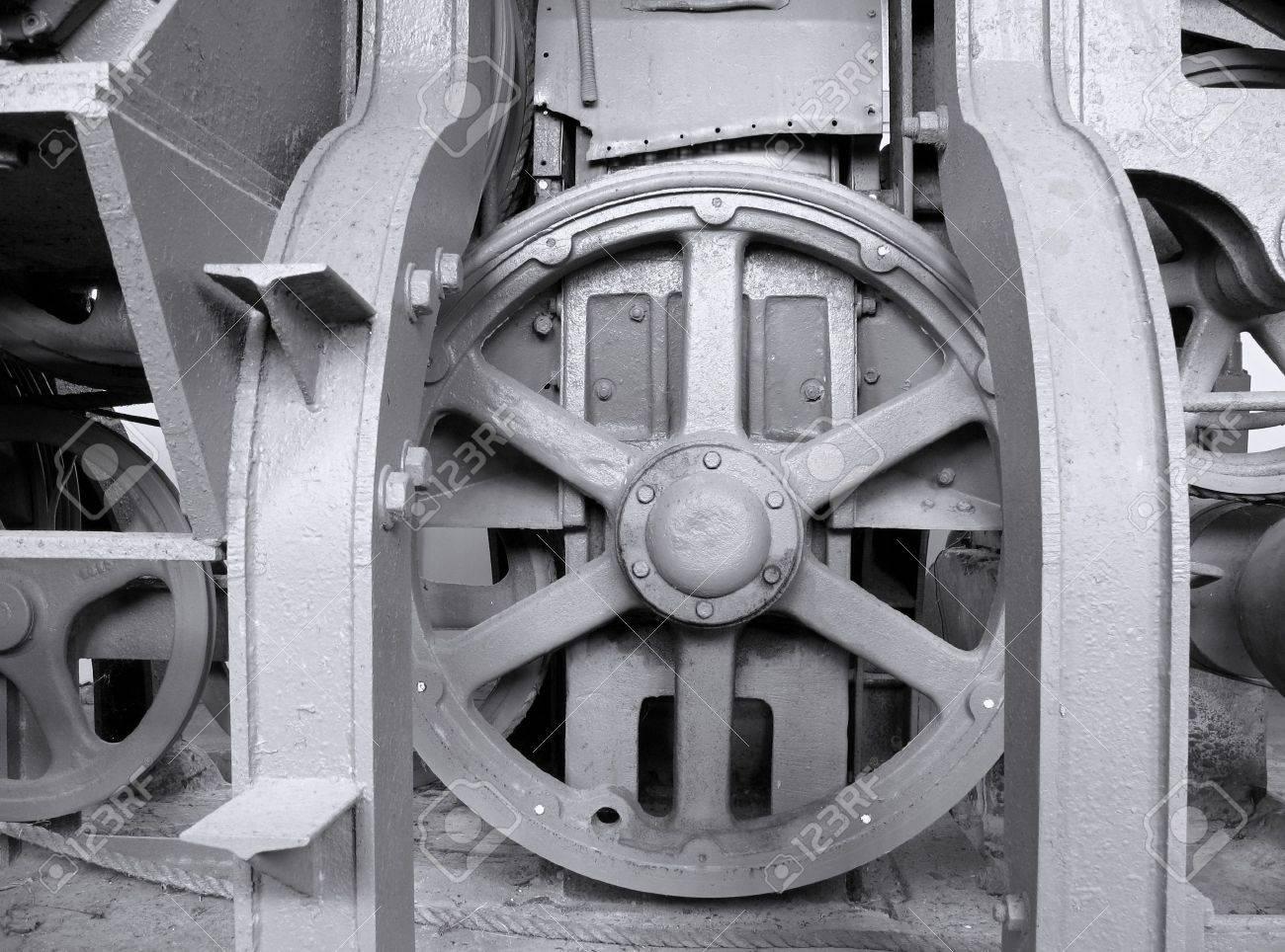 Old Heavy Machinery -- vintage industrial equipment to process sisal hemp Stock Photo - 2784142
