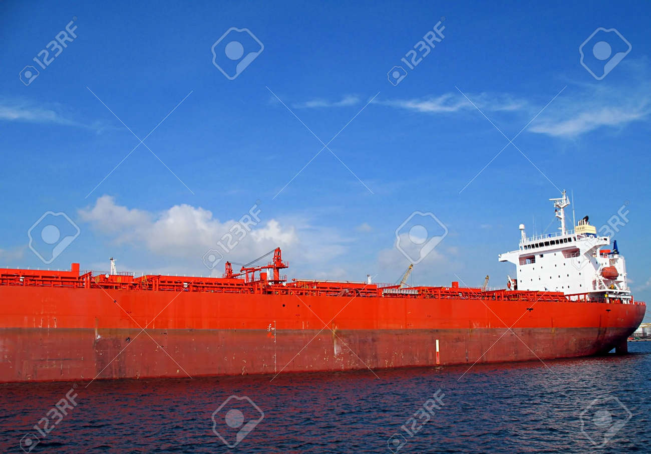 Supertanker -- it is anchored in Kaohsiung Harbor, Taiwan Stock Photo - 3219578