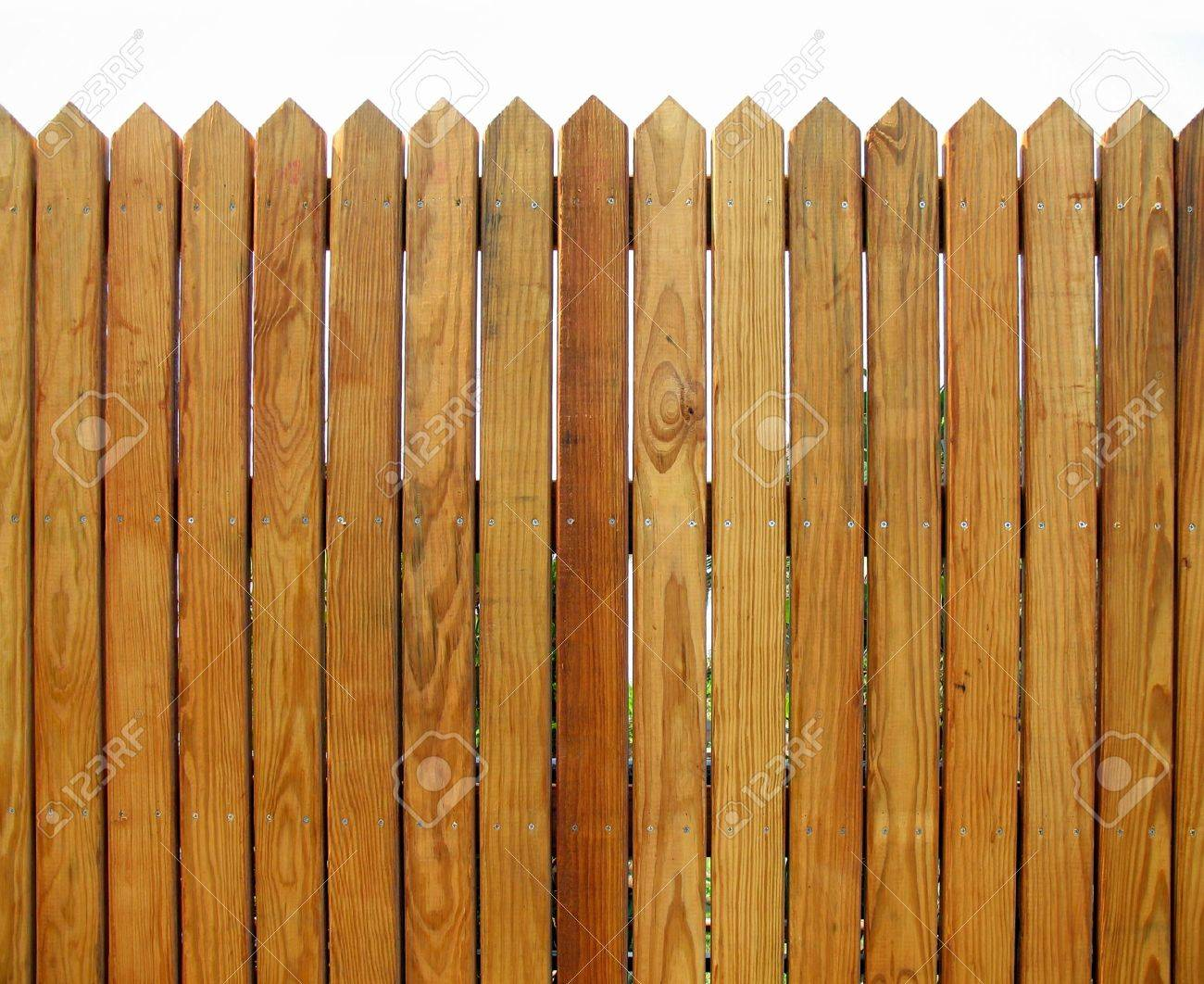 Wooden Fence With Slats That Show The Natural Wood Pattern Stock Photo Picture And Royalty Free Image Image 3219580