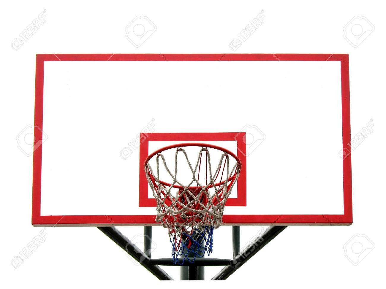 Basketball Hoop And Backboard Isolated Against A White Background ...
