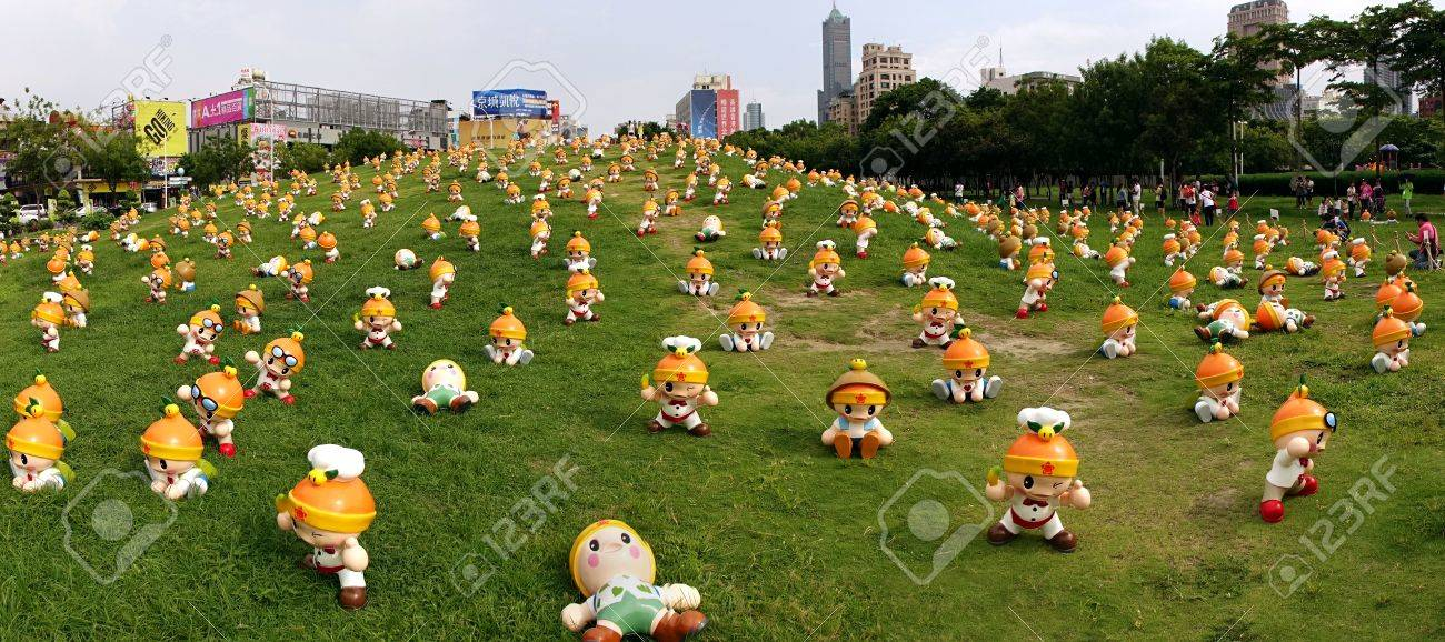 KAOHSIUNG, TAIWAN -- JUNE 28, 2014: These cute fruit wizards