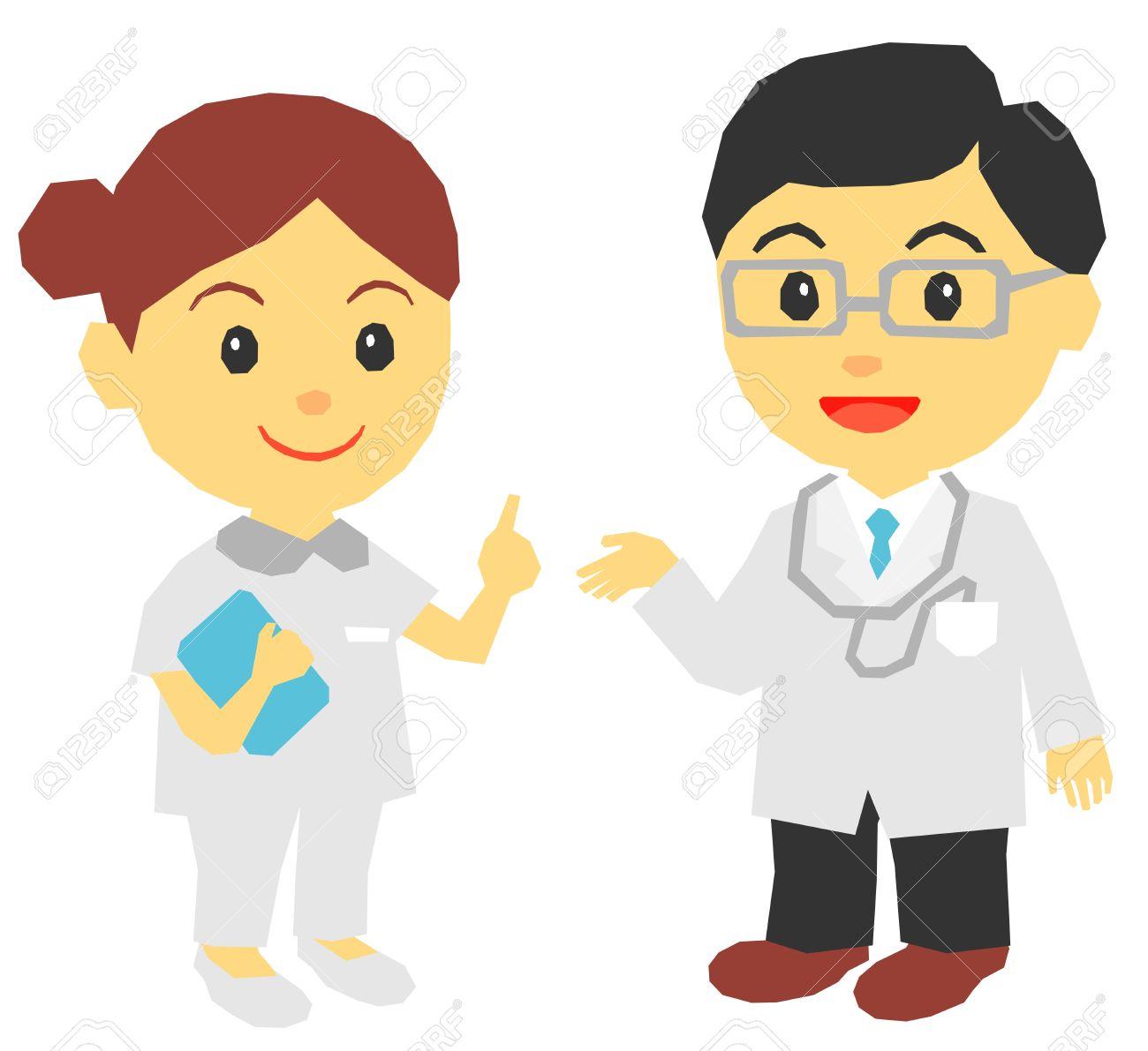 medical doctor, nurse, explaining - 19842979