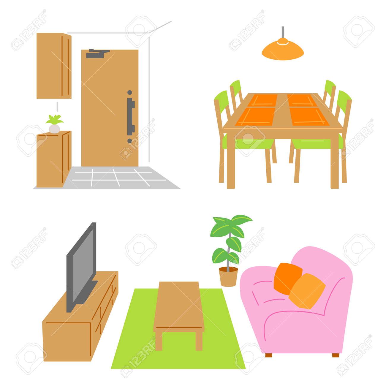 Living Room Dining Door Banque Dimages