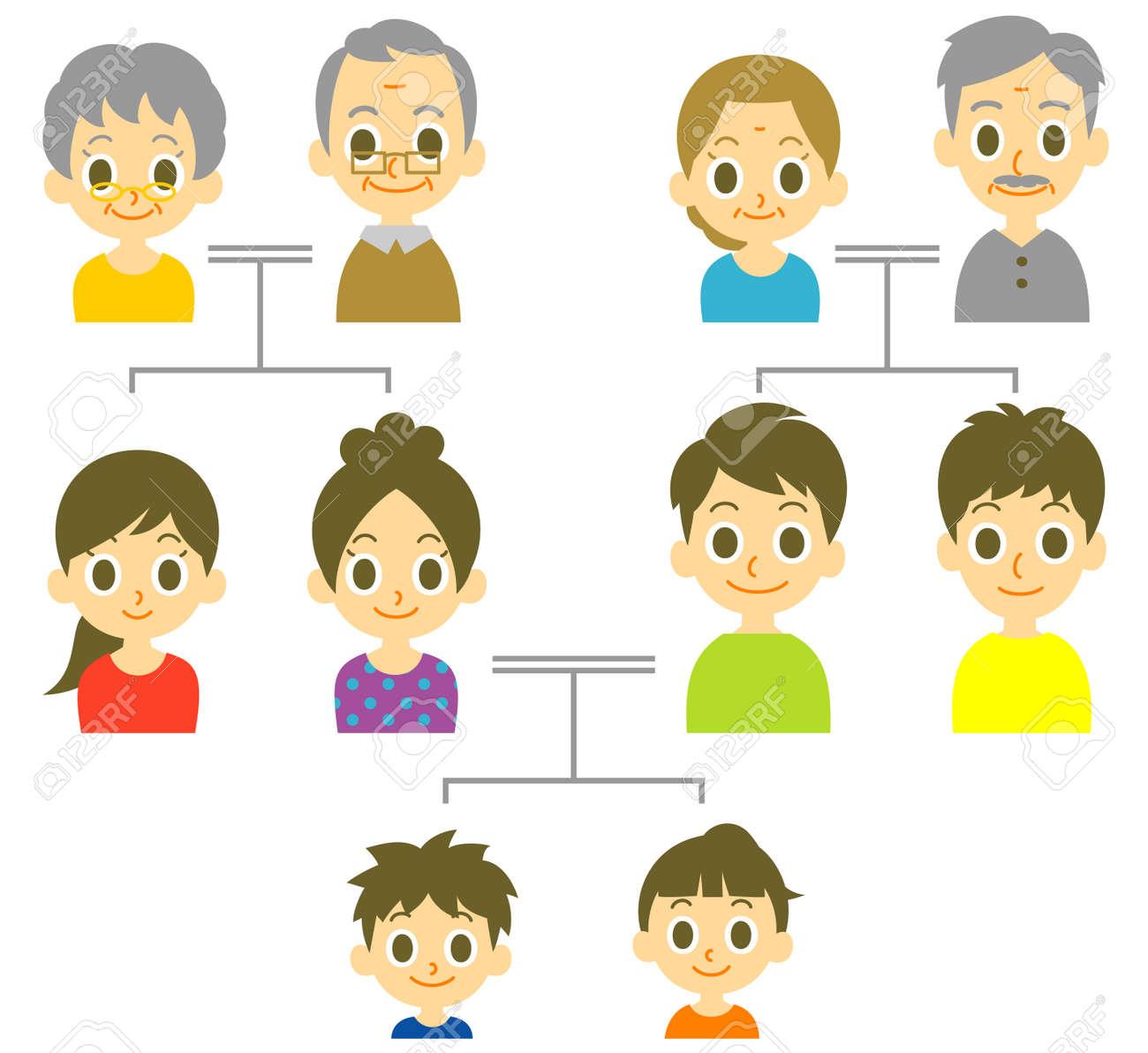 家系図のイラスト素材ベクタ Image 44845230