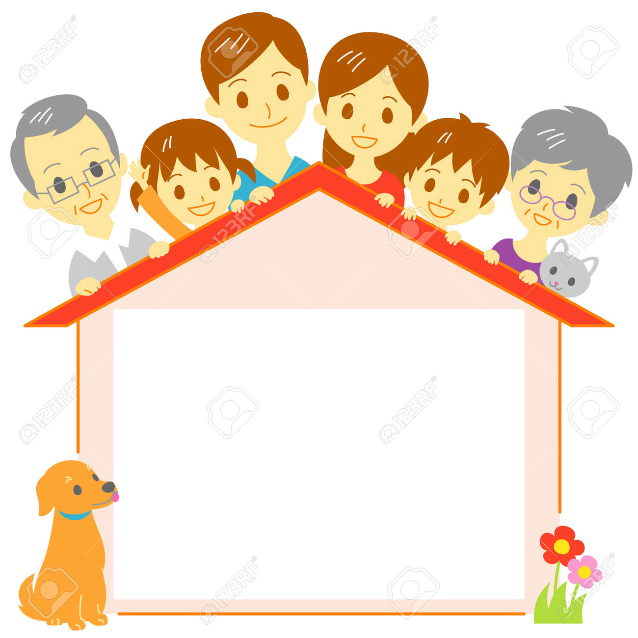 Family house copy space - 54789578
