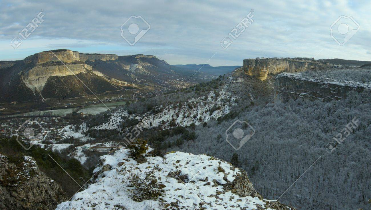 Crimean mountains a river Belbek valley Stock Photo - 4067586