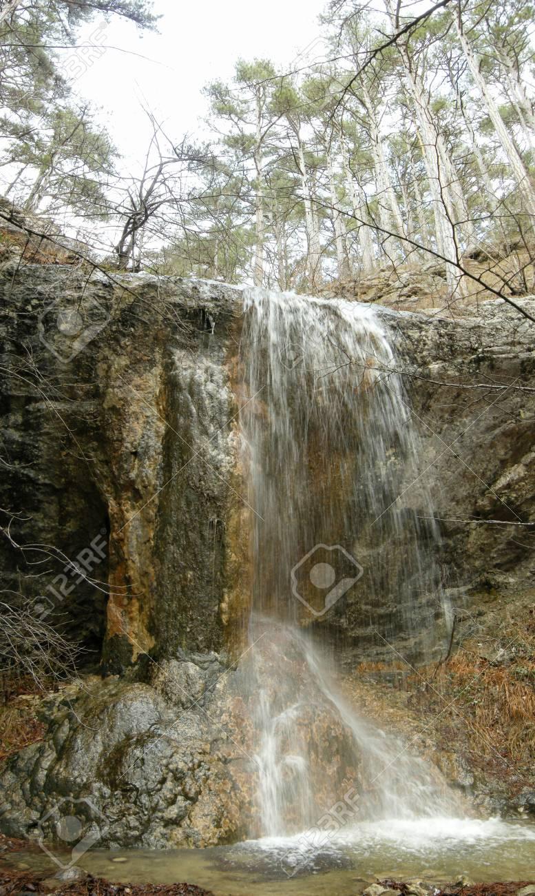 January falls in mountains of Crimea Stock Photo - 4260992