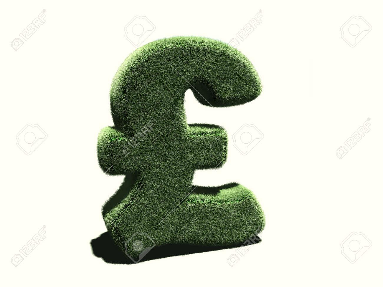 Grassy Livre Sterling Symbol