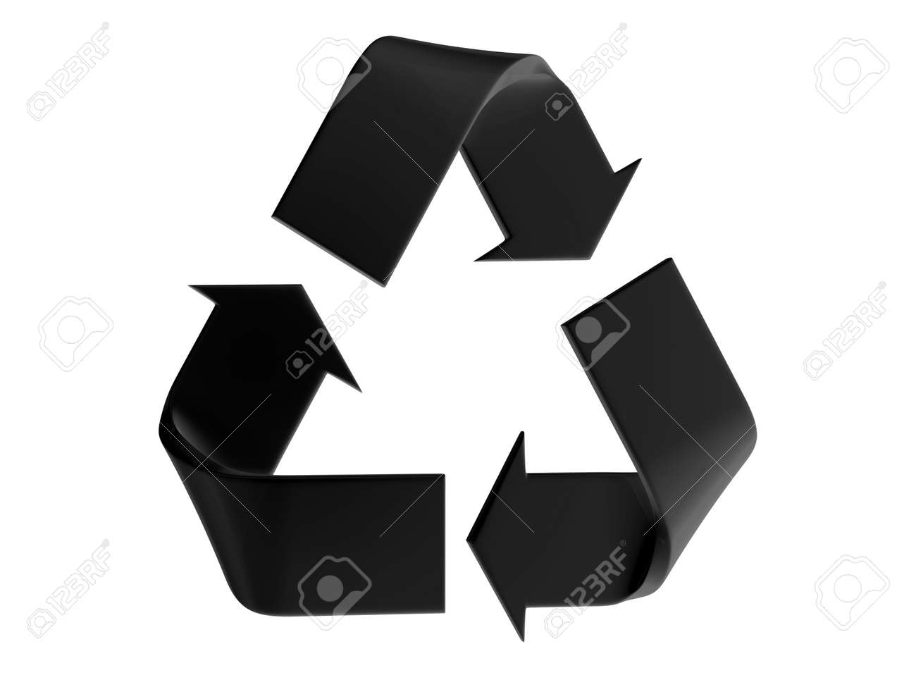Black recycle sign on a white background - 10059794